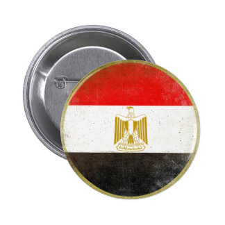 Button with Cool Flag from Egypt