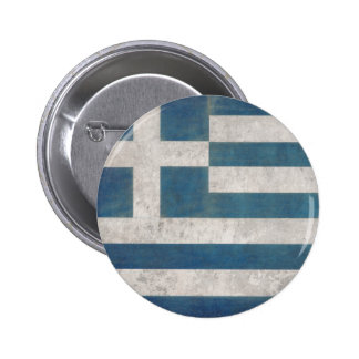 Button with Dirty Vintage Flag from Greece