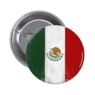 Button with Distressed Flag from Mexico