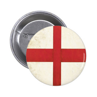 Button with English Flag in Dirty Old Style