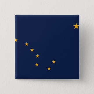 Button with Flag of Alaska