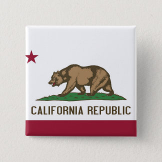 Button with Flag of California