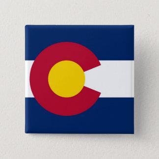 Button with Flag of Colorado