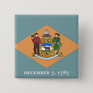 Button with Flag of Delaware
