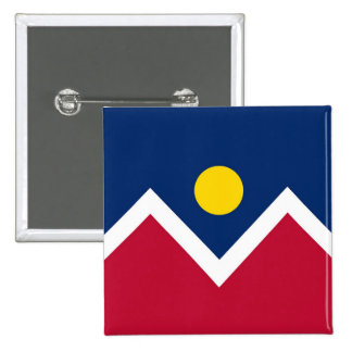 Button with Flag of Denver, Colorado