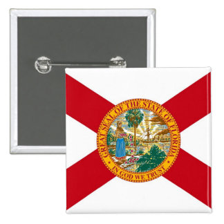 Button with Flag of Florida