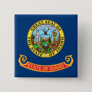 Button with Flag of Idaho