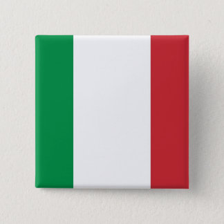 Button with Flag of Italy