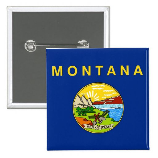 Button with Flag of Montana