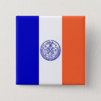 Button with Flag of New York City