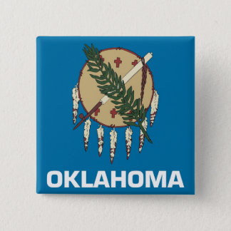 Button with Flag of Oklahoma