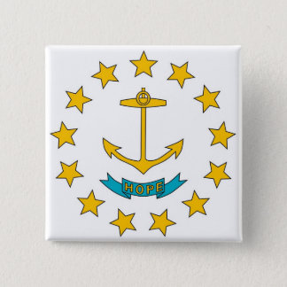 Button with Flag of Rhode Island
