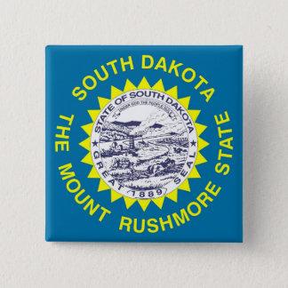 Button with Flag of South Dakota