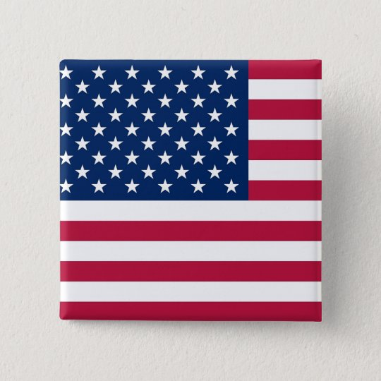 Button with Flag of USA