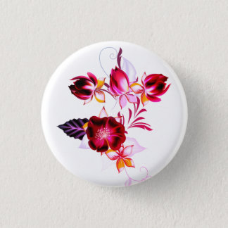 Button with folk Flowers