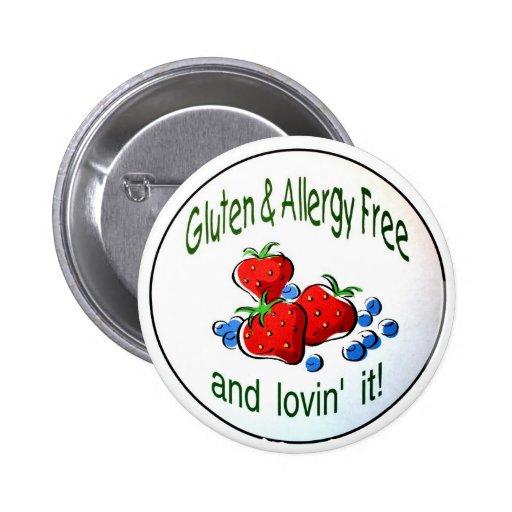 Button with 'Gluten & Allergy Free...' logo