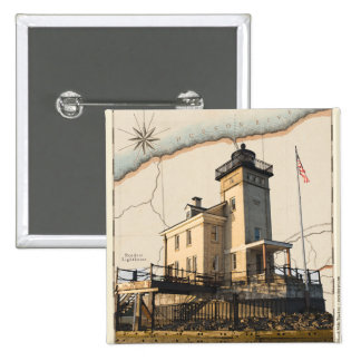 button with lighthouse (Rondout, New York)