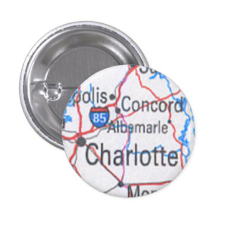 Button with Map of Charlotte / Concord NC