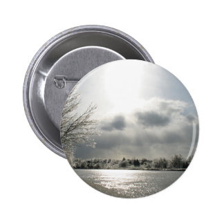 button with photo of icy winter landscape