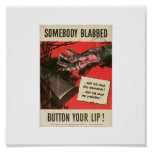 Button your lip! posters