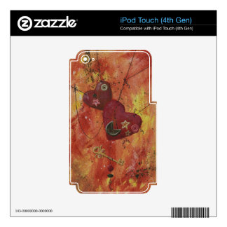 Buttoned Hearts and Skeleton Key Skins For iPod Touch 4G