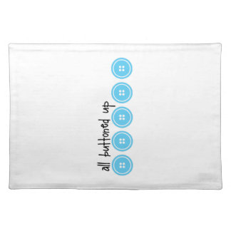 Buttoned Up Cloth Place Mat