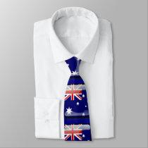 Buttonized Flag of Australia Neck Tie