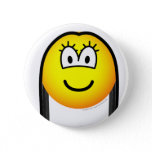 Black haired emoticon   buttons