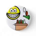 Bottle bank smile Recycling  buttons