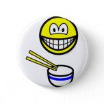 Chop sticks smile Rice bowl  buttons