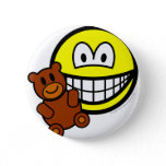 Teddy bear toy smile   buttons
