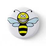 Bumble bee smile   buttons