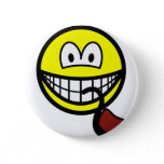 Pipe smoking smile   buttons