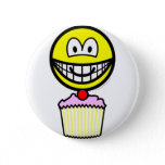 Cup cake smile eating   buttons