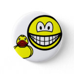 Rubber duck smile playing  buttons