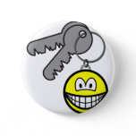 Key ring chain smile   buttons