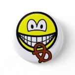 Pretzel eating smile   buttons