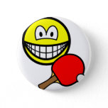 Table tennis playing smile ping pong  buttons