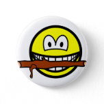 Fetching stick smile Dog  buttons
