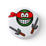 Red Ninja Turtle smile   buttons