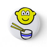 Chop sticks buddy icon Rice bowl  buttons