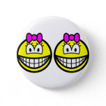 Identical twins smile Girls  buttons