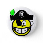 Pirate with parrot smile   buttons