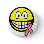 Breast cancer awareness smile Pink ribbon  buttons
