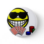 Poker smile sunglasses  buttons
