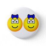 Identical twin emoticon Boys  buttons