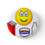 Breakfast emoticon cereal  buttons