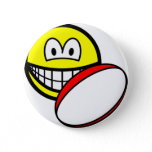 Rugby playing smile   buttons