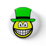 Green hat smile Six Thinking Hats - Creative Lateral Thinking  buttons