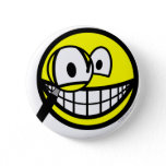 Magnifying glass smile Looking through  buttons